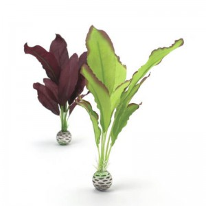 Набор декор. растений Silk plant set medium green&purple