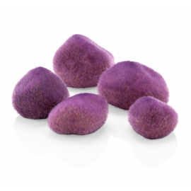 Галька покрытая мхом, фиолетовая , Pebbles purple