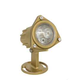 Brass Dichroic Housing LED RGB 9W/12-24V/1cab.o.7-12 mm, подводный светильник