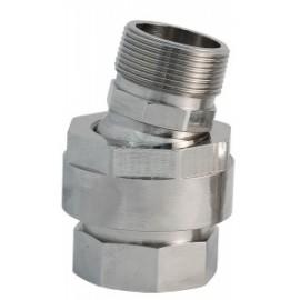 Шаровое соединение 1 1/2``, никелированная латунь