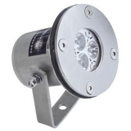 Light Fixture mini RGB 6W/12V/Cable, Светильник подводный из нерж. стали
